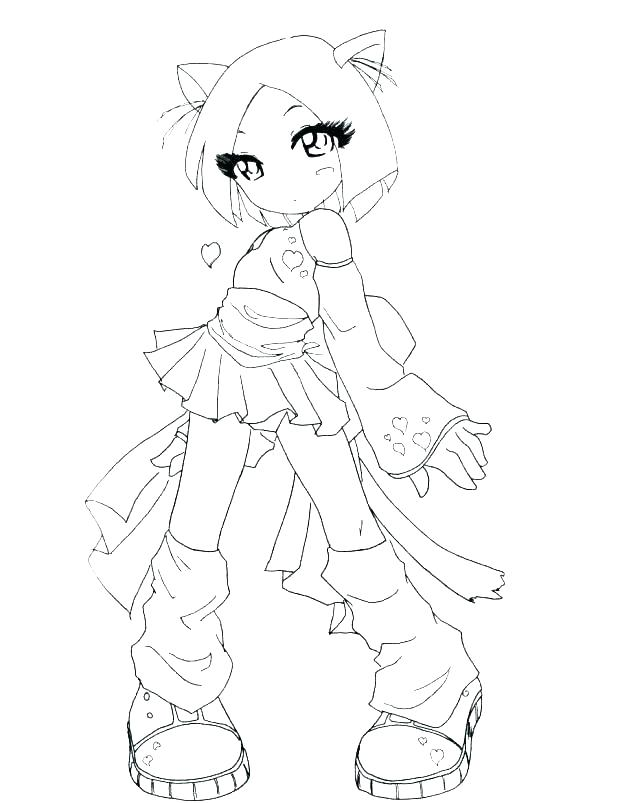 618x803 Cute Baby Girl Coloring Pages Baby Girl Colouring Sheets Anime