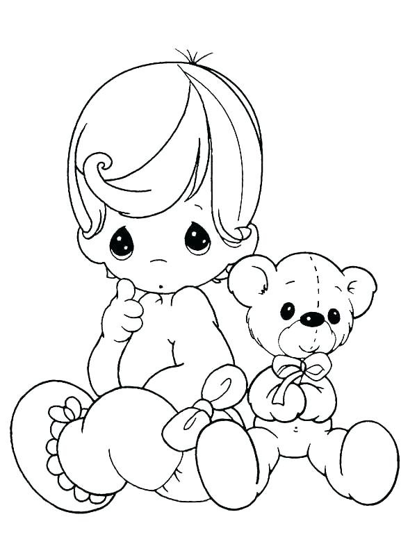 600x806 Precious Moments Baby Coloring Pages Cute Baby Coloring Pages Cute