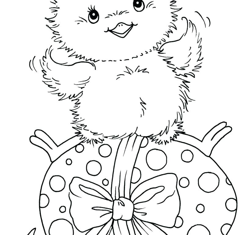 818x768 Coloring Pages For Baby Chicks