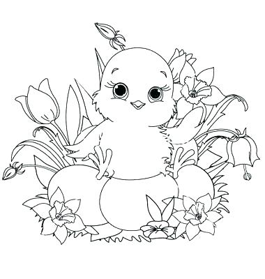 380x400 Baby Chicks Coloring Pages Chick Coloring Pages Plus Baby Girl