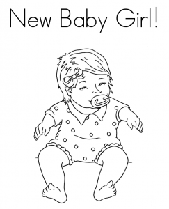 243x300 Baby Girl Coloring Page Free Coloring Pages For Kids