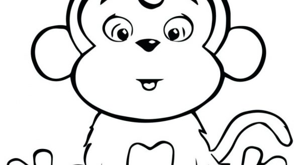 Baby Girl Monkey Coloring Pages