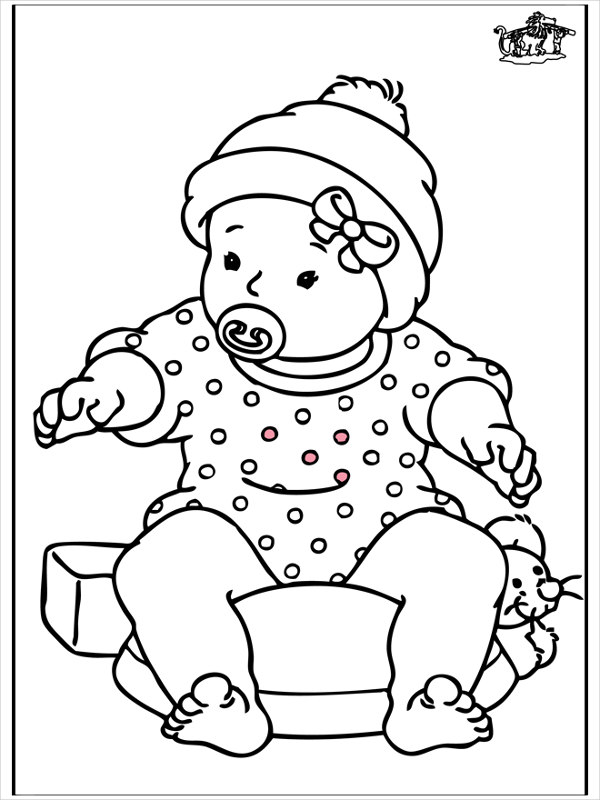 Baby Girls Coloring Pages