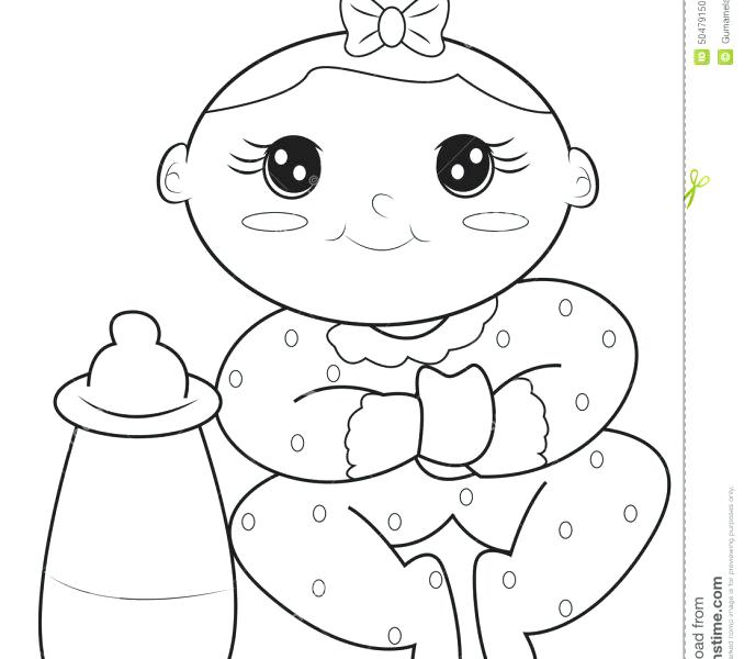 678x600 Printable Baby Girl Coloring Pages For Sheets With Baby Girl