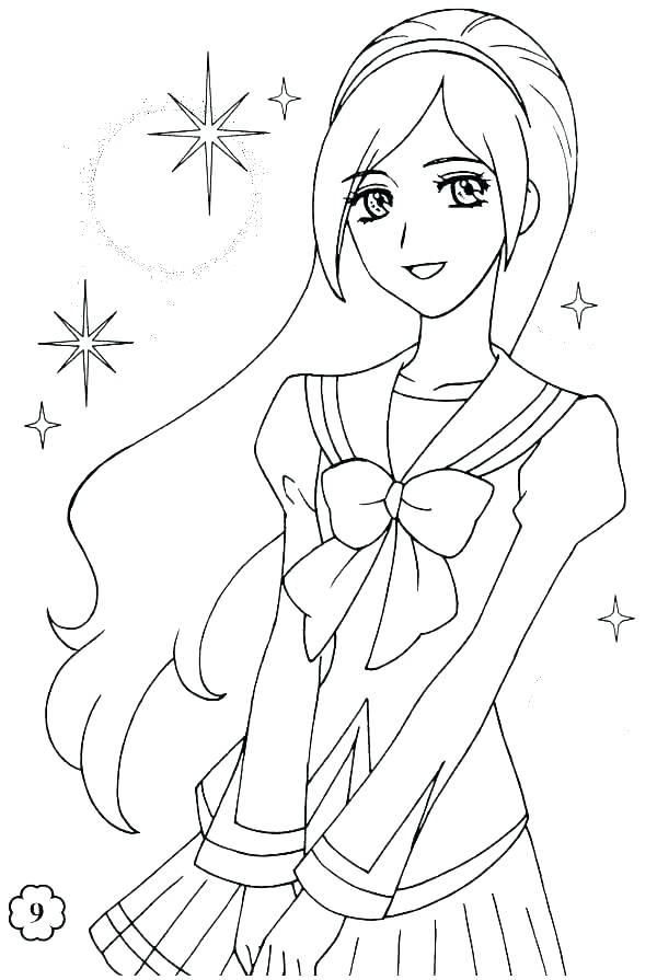 600x895 Printable Girl Coloring Pages Girl Pictures To Print Girl Coloring