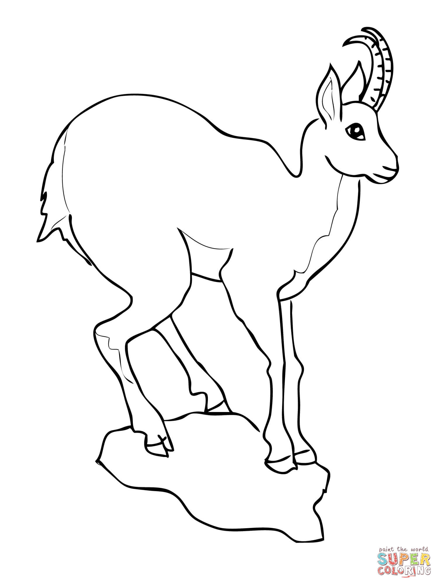 1500x2000 Baby Goat Coloring Pages Printable Page Image Clipart Images
