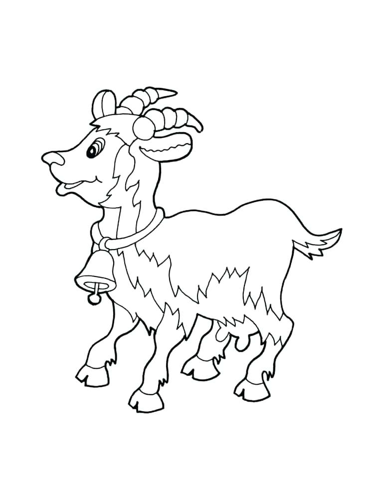 750x1000 Billy Goats Gruff Printable Story Printable Coloring Goat Coloring