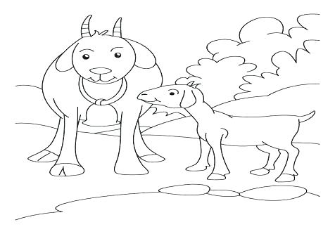 476x333 Goat Coloring Pages Three Billy Goats Gruff Coloring Pages