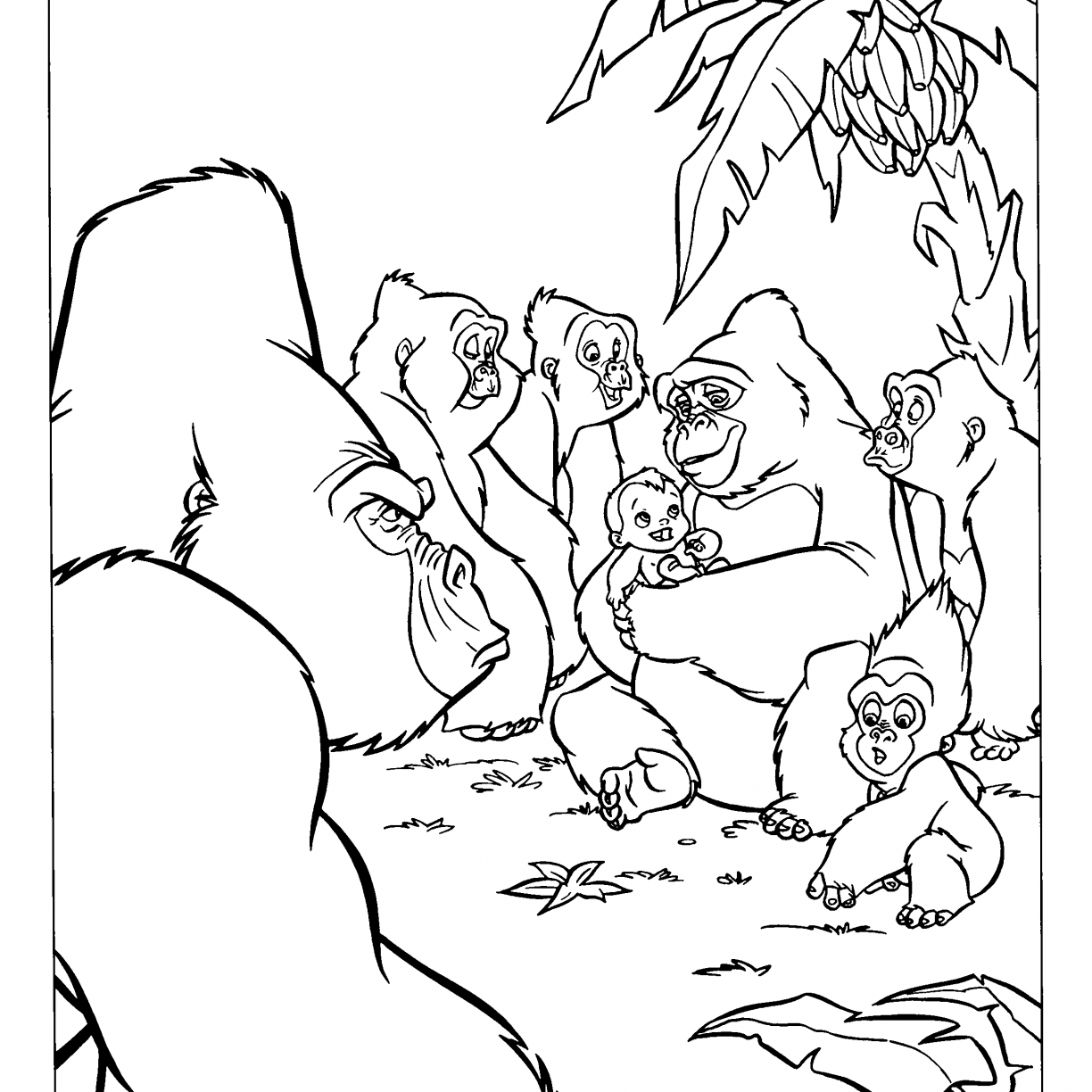 Baby Gorilla Coloring Pages at GetDrawings | Free download