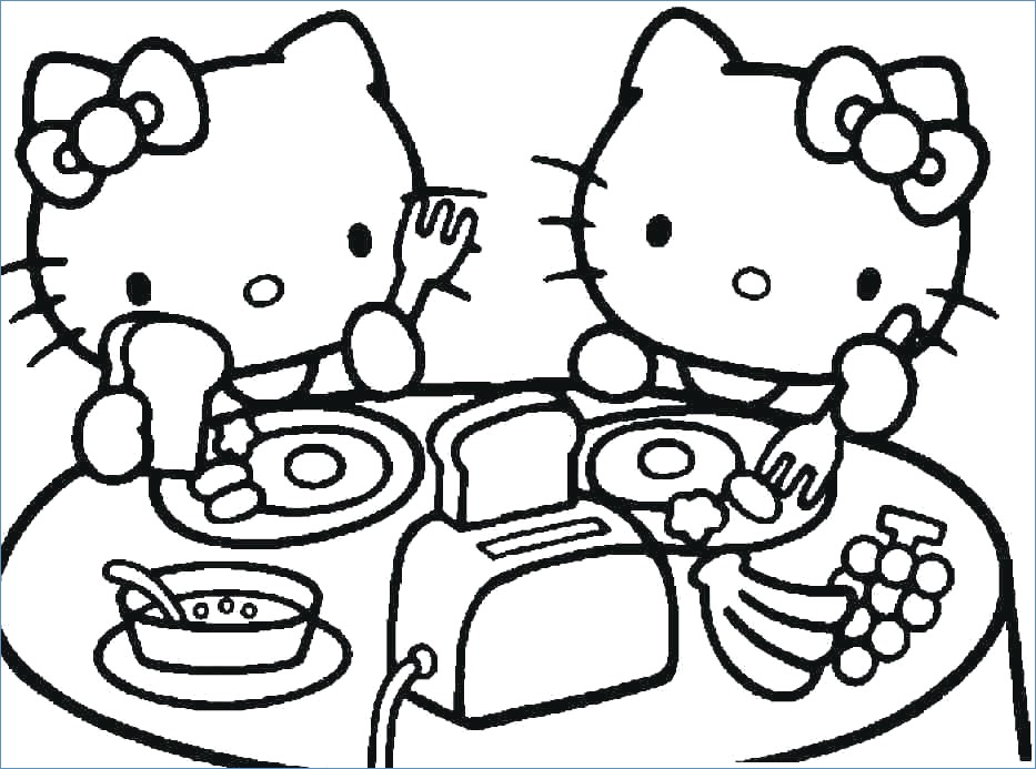933x693 Hello Kitty Coloring Pages Juegos Ideas