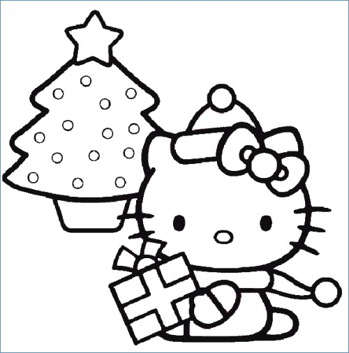500x506 Cute Baby Hello Kitty Coloring Pages