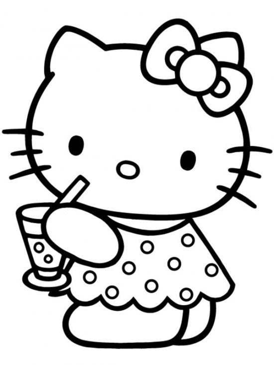 550x733 Free Printable Baby Hello Kitty Coloring Pages For Kids Picture