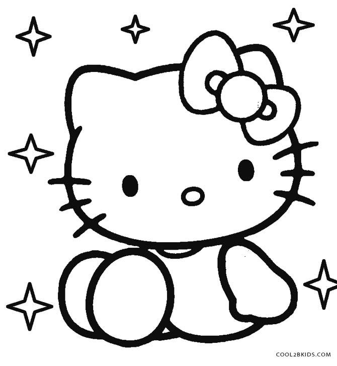 670x727 Free Printable Hello Kitty Coloring Pages For Pages