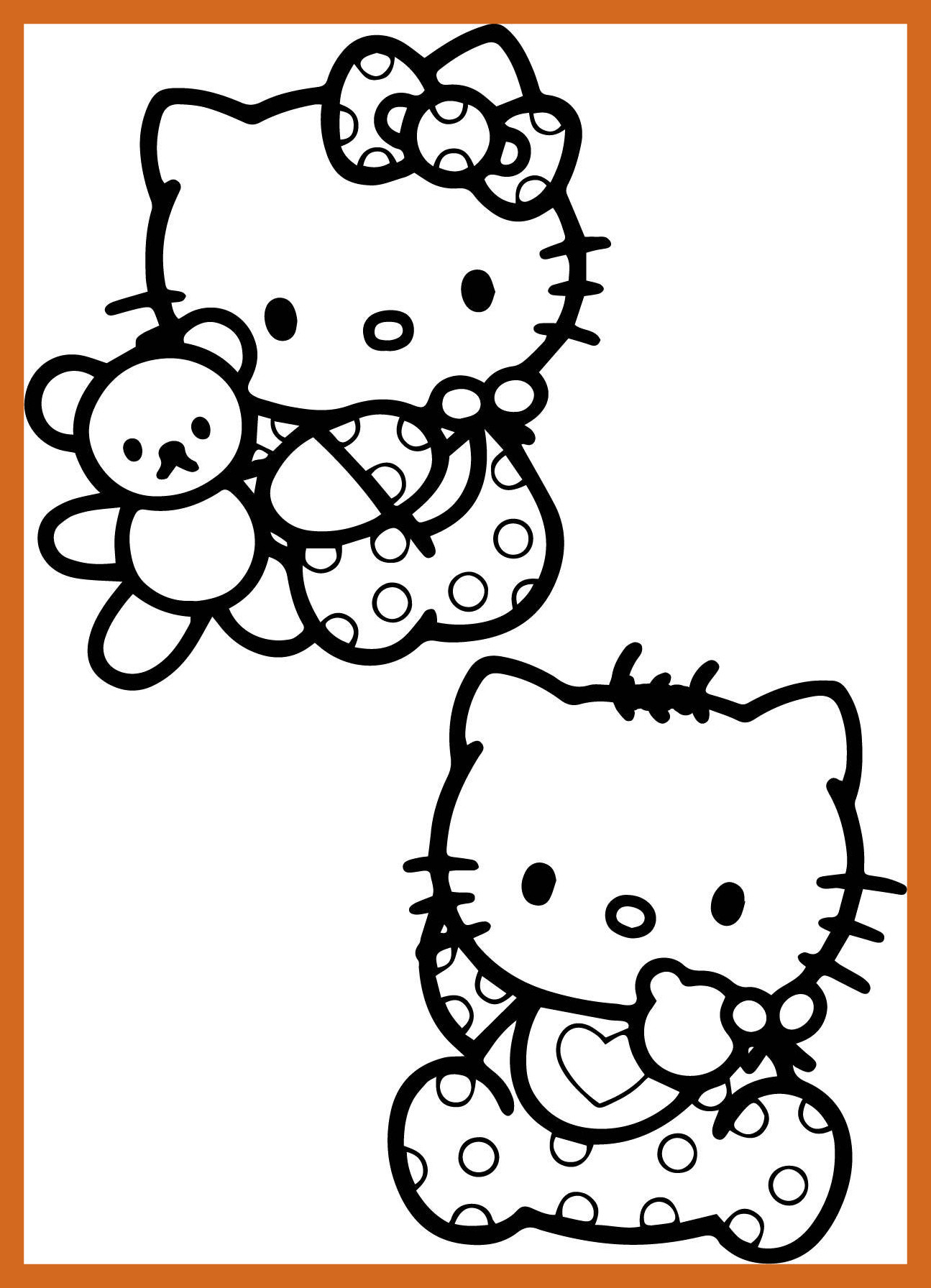1295x1792 Astonishing Baby Hello Kitty Coloring Pages Wecoloringpage Picture