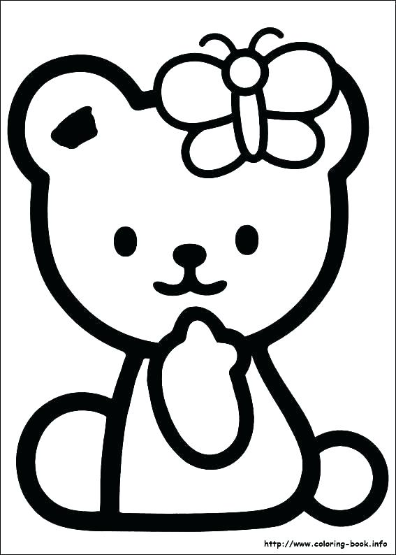 567x794 Baby Cat Coloring Pages Hello Kitty Birthday Coloring Page Baby