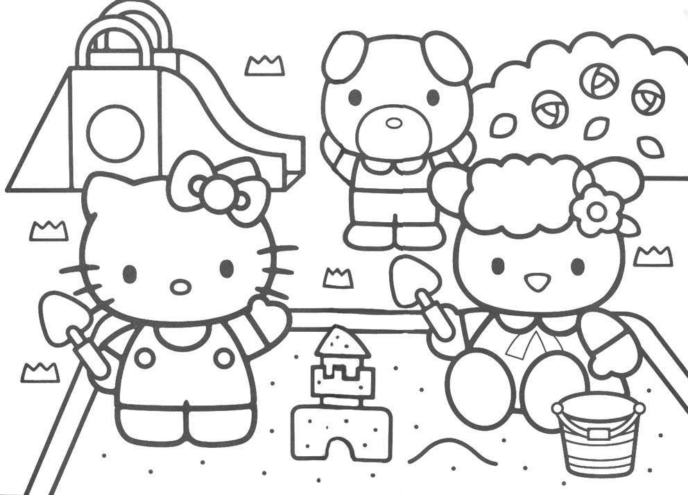 992x713 Baby Hello Kitty Coloring Pages Timykids