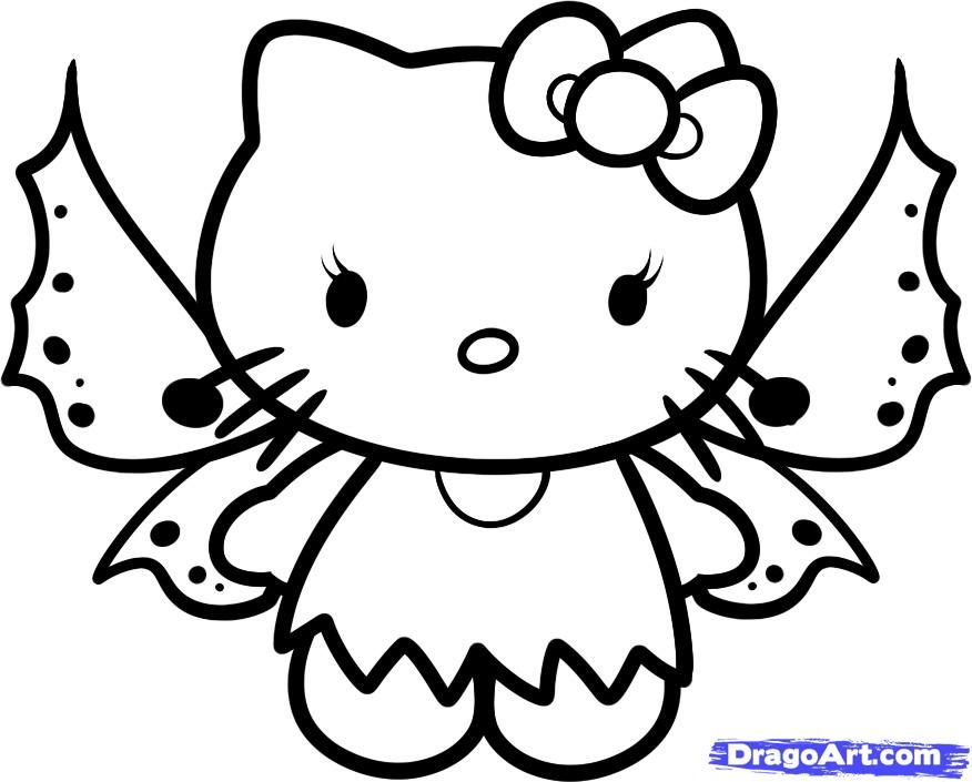 876x705 Baby Hello Kitty Coloring Pages How To Draw Fairy Hello Kitty