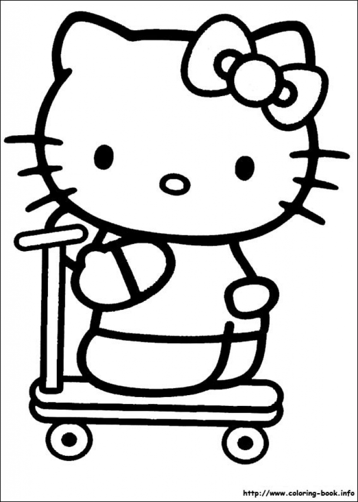 731x1024 Baby Hello Kitty Coloring Pages