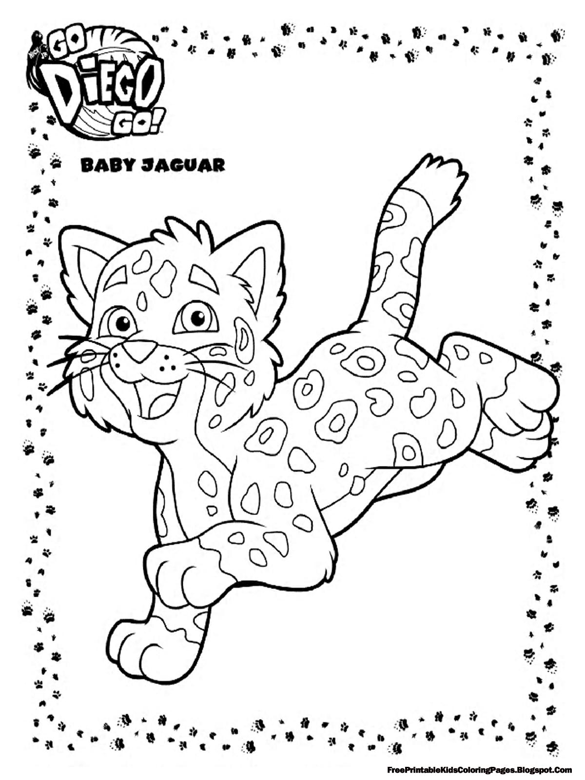 1200x1600 Diego Ba Jaguar Coloring Pages Printable Free Kids For Decorations