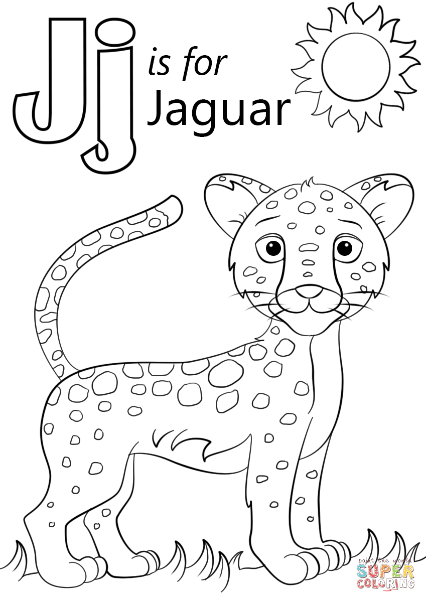 849x1200 Letter J Is For Jaguar Coloring Page Free Printable Coloring Pages