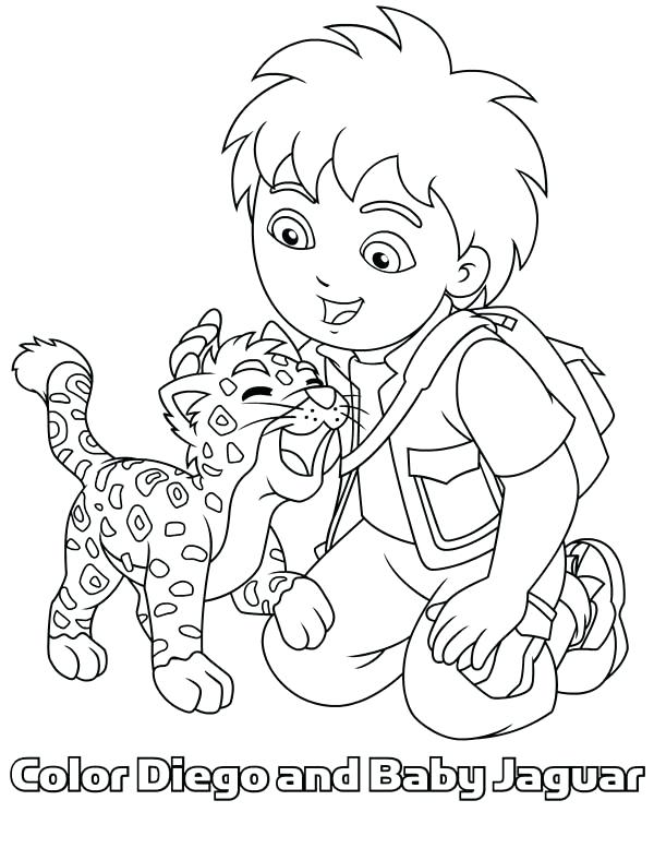 600x788 Baby Jaguar Coloring Pages Baby Jaguar Love In Go Go Coloring Page