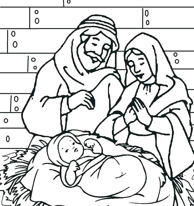 648x689 Baby Jesus Coloring Pages Baby Coloring Pages Baby In A Manger