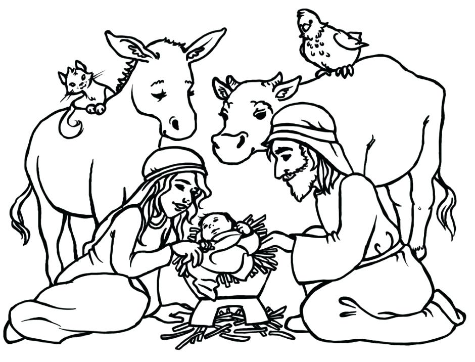 Baby Jesus Coloring Page Printable At Getdrawings Com Free For