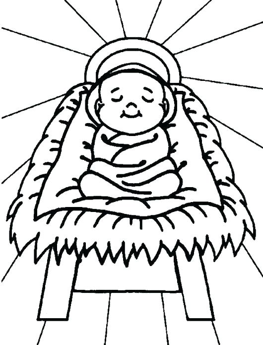 530x695 Coloring Picture Of Baby Jesus Baby Nativity Picture Coloring Page