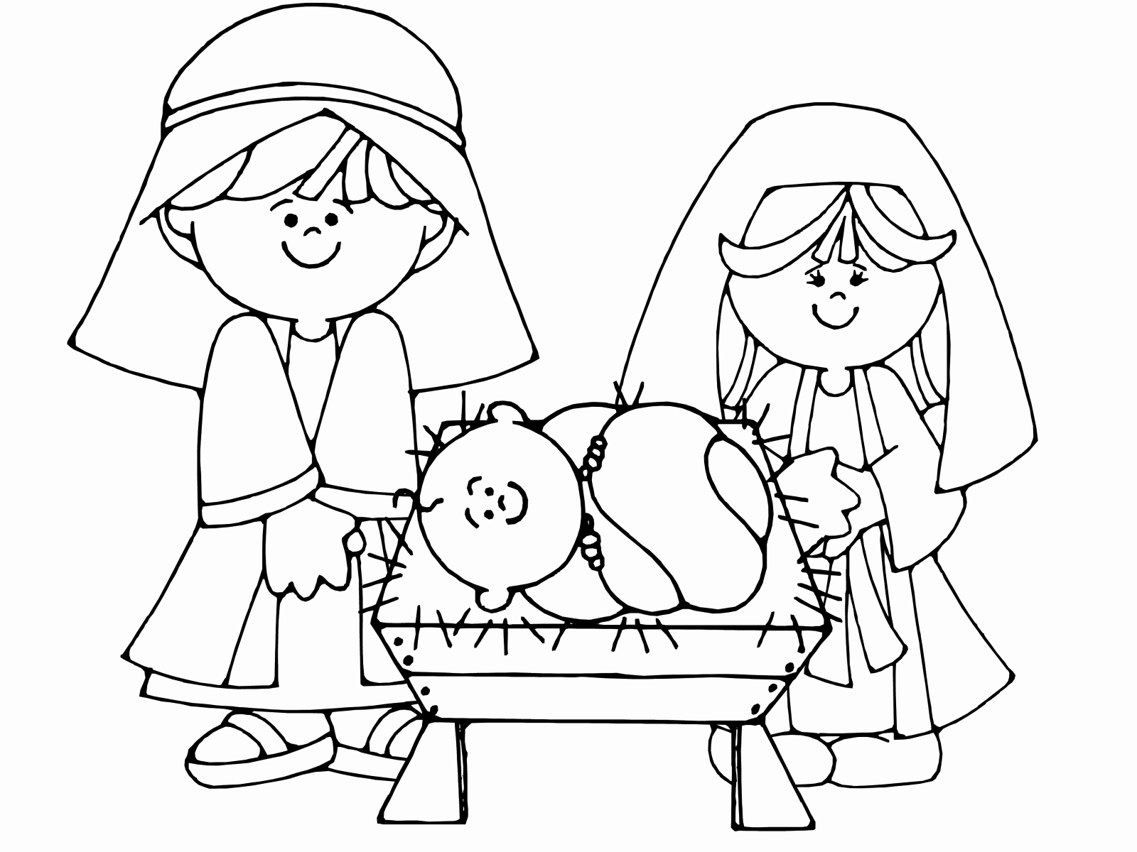 1600x1200 Free Coloring Pages Of Baby Jesus In A Manger Photos Nativity