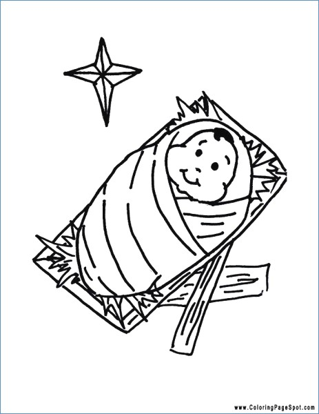 463x600 Baby Jesus Christmas Coloring Pages For Kids