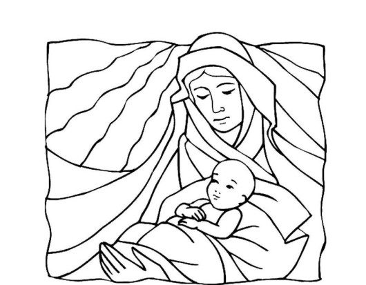 530x413 Baby Jesus Christmas Coloring Pages Printable