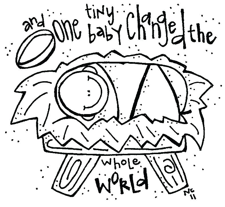 786x724 Baby Jesus Coloring Page Click To See Printable Version Of Baby
