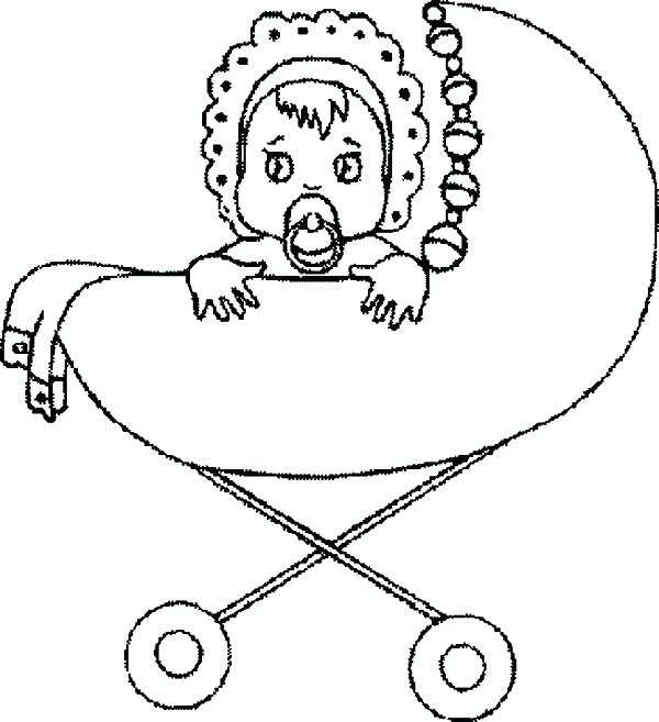 600x657 Coloring Pages Of Babies Babies Babies Sad Eyes In Stroller
