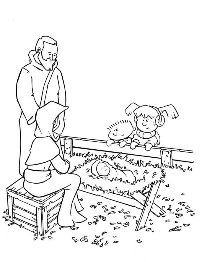 684x886 Free Printable Nativity Coloring Pages For Kids