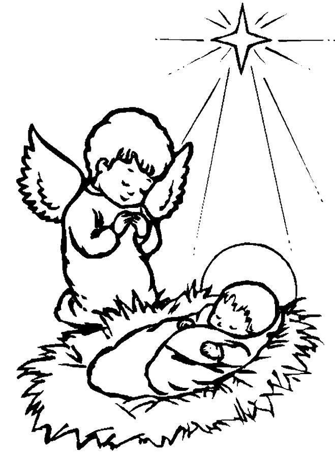 Baby Jesus Coloring Pages For Preschoolers At Getdrawings
