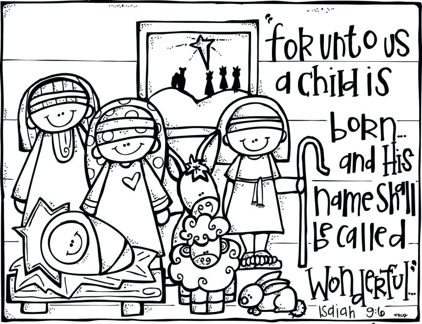 869x667 Baby Jesus Coloring Pages Picture High Resolution Color Nativity