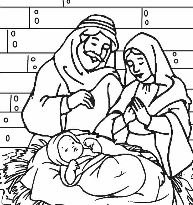 648x689 Baby Jesus Coloring Pages Preschool For Sweet Print Download