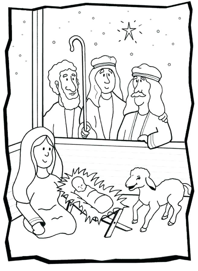 656x900 Baby Jesus Manger Coloring Page And Coloring Pages Nativity Born