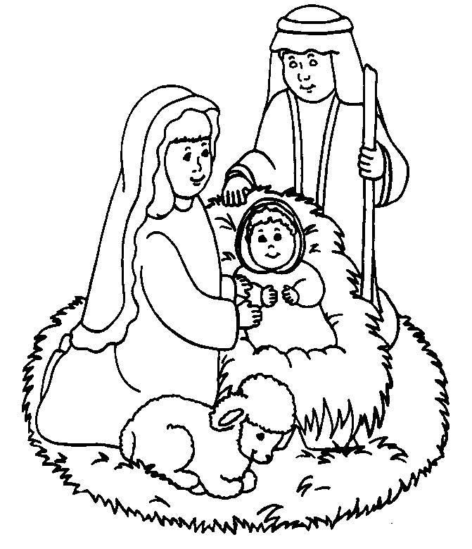 671x779 Baby Jesus Manger Coloring Page Az Coloring Pages Coloring Gallery