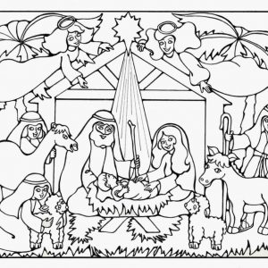 300x300 Coloring Pages For Christmas Jesus New Baby Jesus Manger Coloring