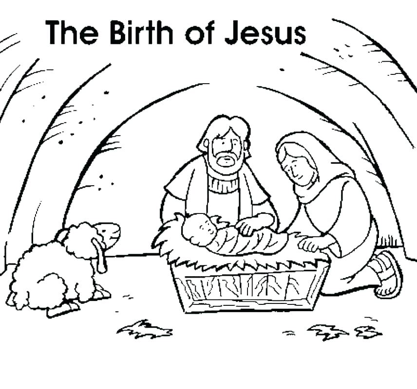 856x800 Coloring Pages Of Baby Jesus A Little Angel Praying For Baby