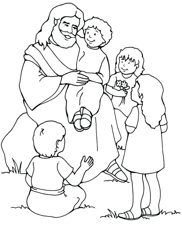600x742 Jesus Color Pages Free Printable Coloring Pages For Kids For Color