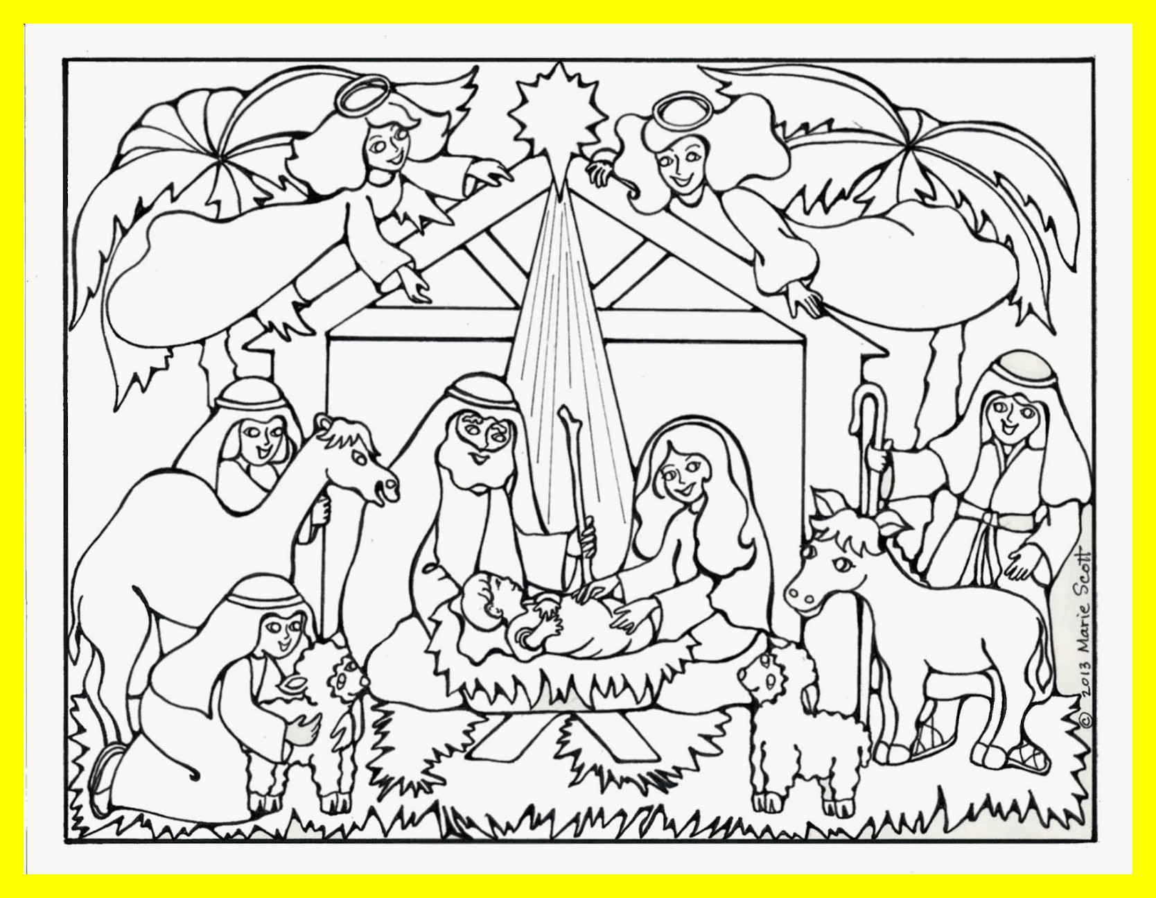 1668x1295 Marvelous Baby Jesus Coloring Pages Rallytv Org Pics For Nativity