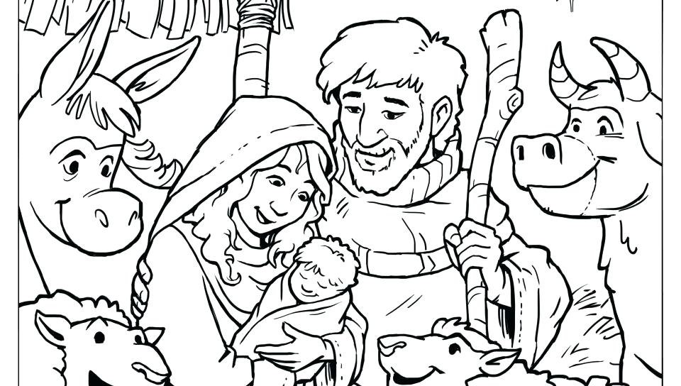 960x544 Coloring Baby Jesus Manger Coloring Page Sheet Pages Nativity