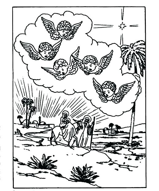 518x623 Jesus In Manger Coloring Page