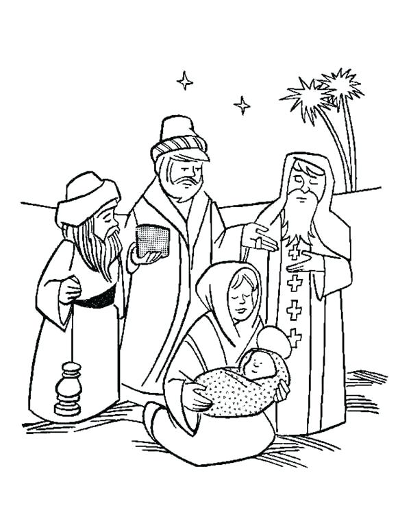 600x754 Baby Jesus Coloring Pages Baby In Manger Coloring Page Coloring