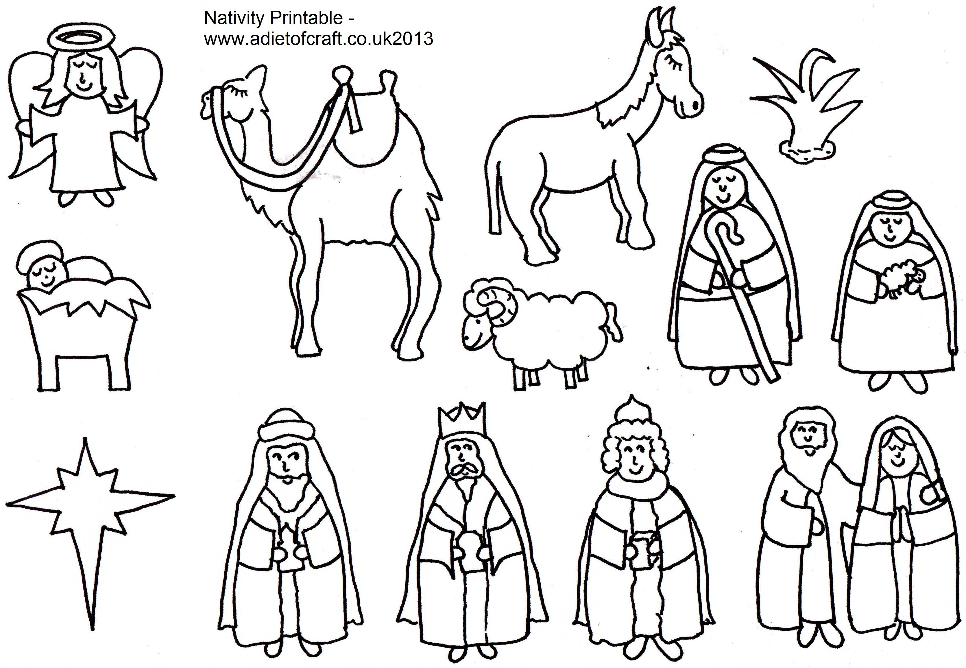 3341x2309 Baby Jesus In A Manger Coloring Page Free Printable Pages