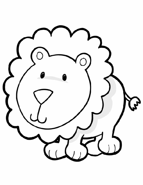 600x776 Jungle Animals Coloring Pages