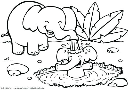 500x350 Jungle Coloring Page Jungle Coloring Pages Beautiful Printable