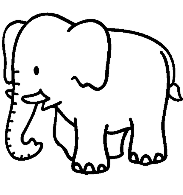 612x652 Baby Jungle Animals Coloring Pages